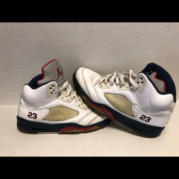 low priced 25a9a 5cac1 Nike Air Jordan 5 V Retro Olympic USA 136027-103